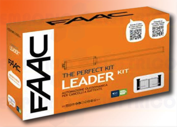 faac kit automazione 230v ac leader kit perfect 105911fr